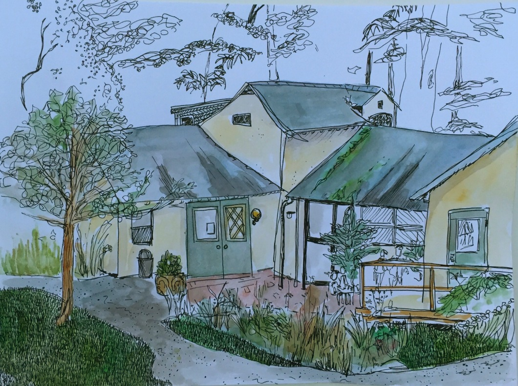 Asher's painting of the school